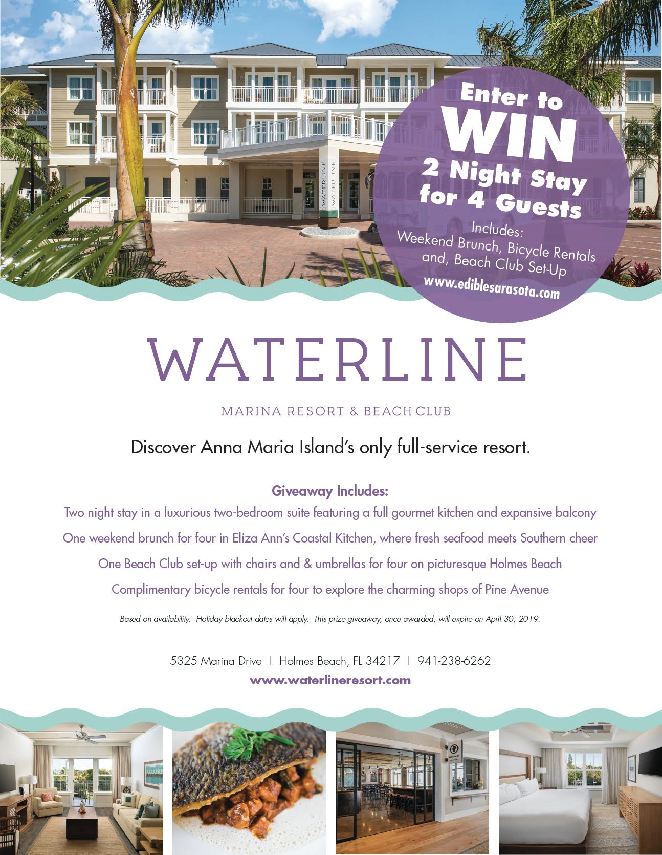 Waterline Marina Resort & Beach Club Giveaway   Edible Sarasota