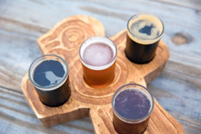 Beer flight at Darwin's Brew House