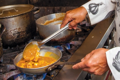 Cooking specialty curry dishes
