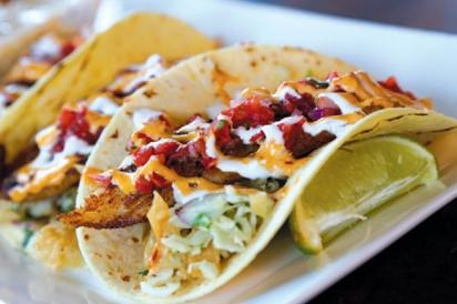 fish tacos at Tommy Bahama at Lido Key