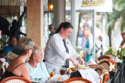 dining at Columbia on the circle at Lido Key