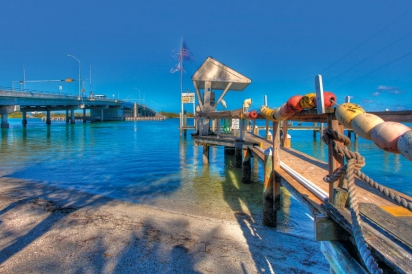 the dock at New Pass Grill on Lido Key