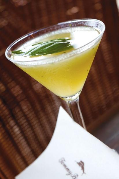 a signature cocktail at Tommy Bahama at Lido Key