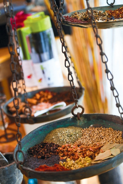 a wide variety of teas and spices at The Spice and Tea Exchange at Lido Key