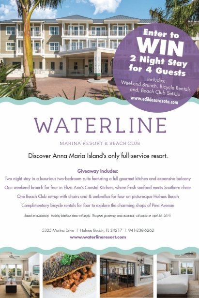 Waterline Marina Resort & Beach Club Giveaway | Edible Sarasota