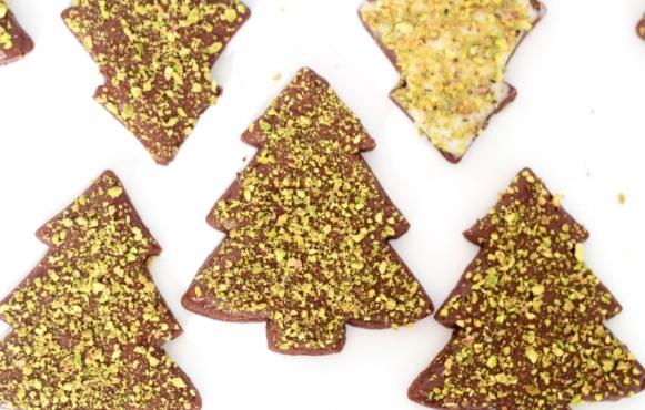 Chocolate-Pistachio Butter Cookies