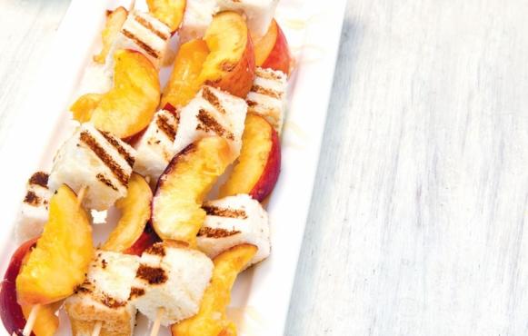 grilled peach angel food