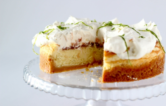 Lime Cheesecake with Lychee Jam
