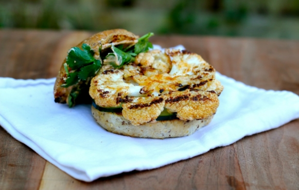 spiced cauliflower burgers
