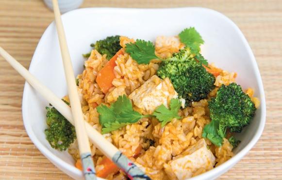 Thai Tofu and Rice