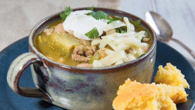 white bean tomatillo turkey chili
