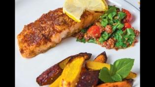 roasted salmon with spicy glaze